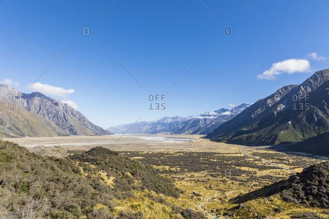 New Zealand- Oceania- South Island- Canterbury- Ben Ohau- Southern Alps (New Zealand Alps)- Mount Cook National Park- Tasman Valley