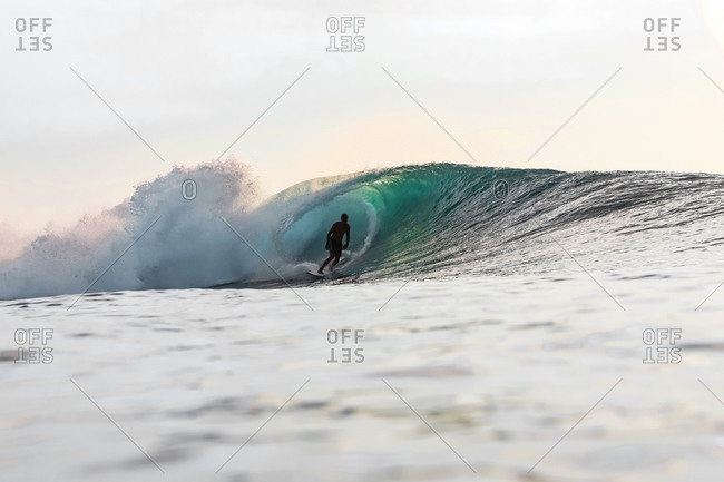 Surfer in the evening- Bali- Indonesia