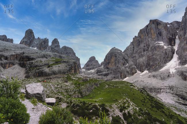Italy- Dolomites- Trentino- Rendena Valley- Brenta mountain range