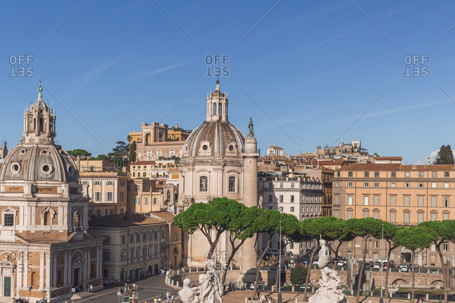 Italy- Rome- Church of Most Holy Name of Mary at Trajan Forum- Santa Maria di Loreto and Trajans Column