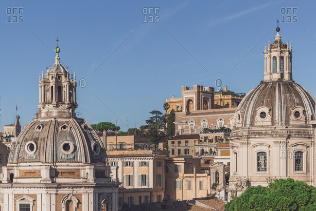 Italy- Rome- Church of Most Holy Name of Mary at Trajan Forum and Santa Maria di Loreto