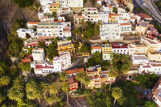 Spain- Canary Islands- La Gomera- Valle Gran Rey- La Calera- Aerial view of town