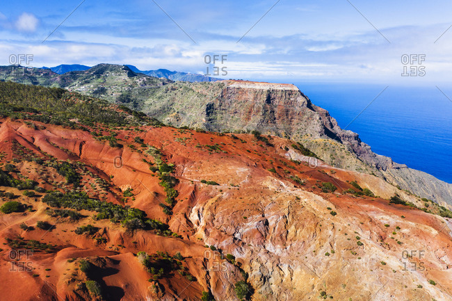 Spain- Canary Islands- Agulo- Brown eroded mountain slope