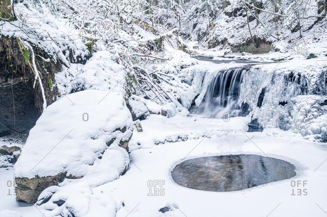 Germany- Baden-Wurttemberg- Weinstadt- Swabian-Franconian Forest in winter