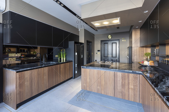 Interior of the kitchen in a luxurious property- London- UK