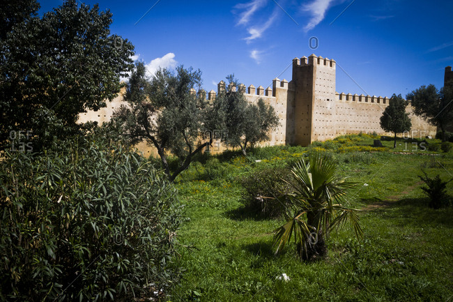 The city wall in Fes, Morocco