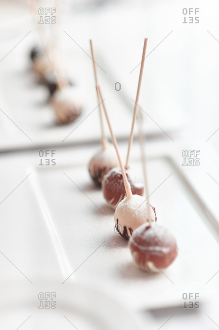 Chocolate covered cake pops