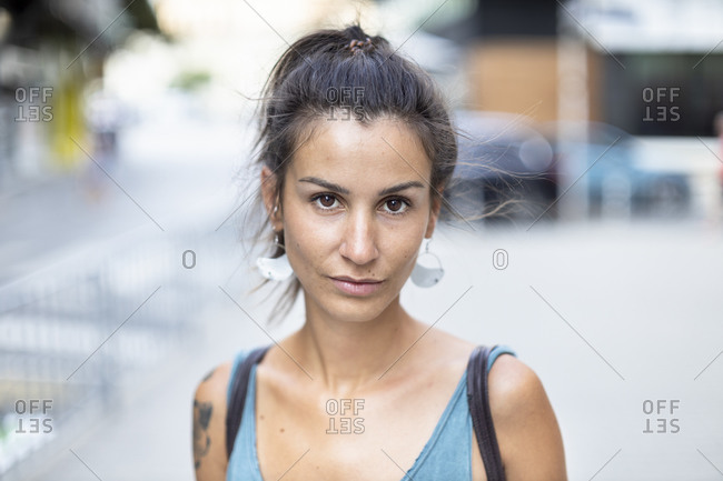 Portrait of woman outside on a summer day