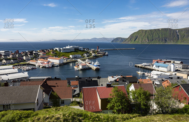 Honningsvag, the world's most northerly town, Finnmark, Norway, Scandinavia, Europe