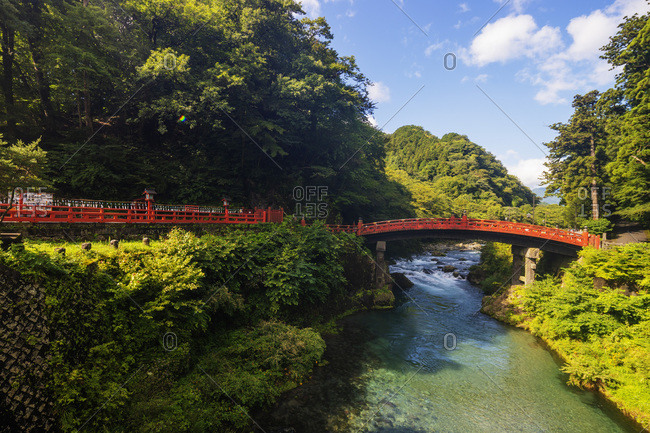 Shinkyo Bashi bridge on Daiya River, Nikko, UNESCO World Heritage Site, Tochigi prefecture, Honshu, Japan, Asia