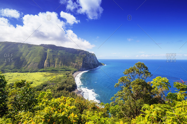 Waipio valley north shore, Big Island, Hawaii, United States of America, North America