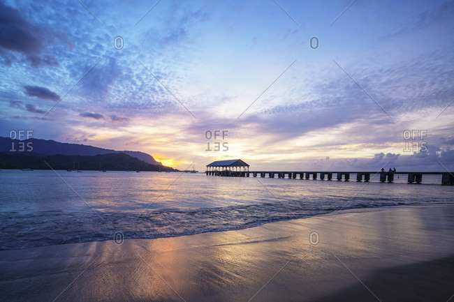 Hanalei Bay pier, Kauai Island, Hawaii, United States of America, North America