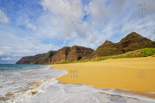 Polihale State Park beach, Kauai Island, Hawaii, United States of America, North America