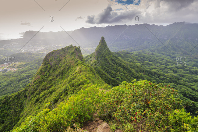 Three Peaks trail, Oahu Island, Hawaii, United States of America, North America