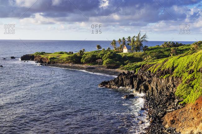 Coastal scenery on the road to Hana, Maui Island, Hawaii, United States of America, North America