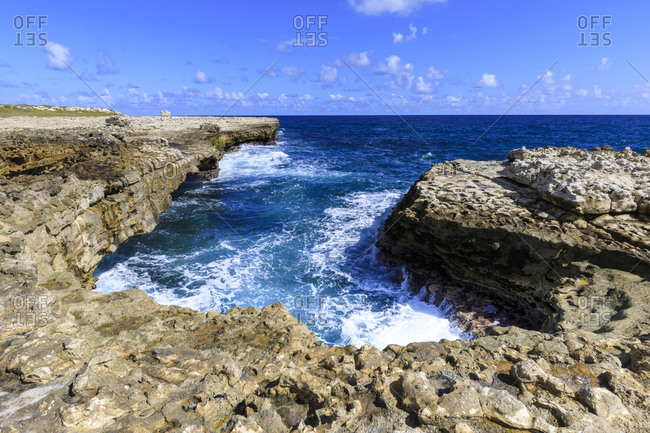 Devil's Bridge, geological limestone rock formation and arch, Willikies, Antigua, Antigua and Barbdua, Leeward Islands, West Indies, Caribbean, Central America