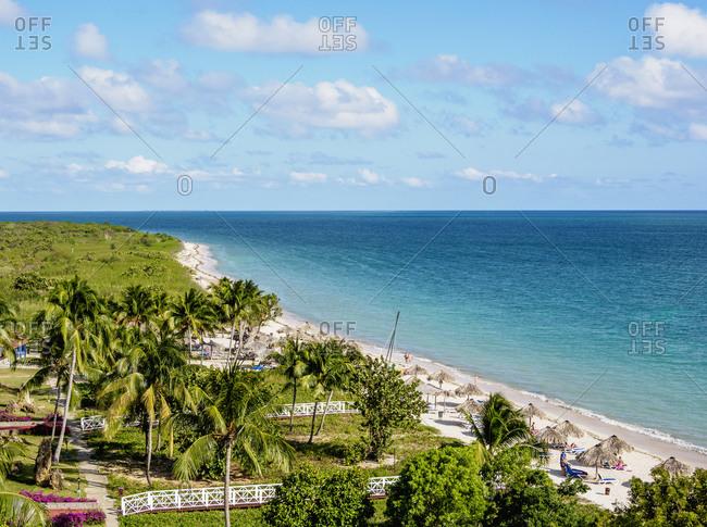 Playa Ancon, elevated view, Trinidad, Sancti Spiritus Province, Cuba, West Indies, Caribbean, Central America