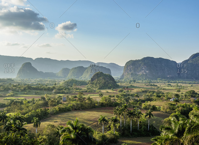 Vinales Valley, elevated view, UNESCO World Heritage Site, Pinar del Rio Province, Cuba, West Indies, Caribbean, Central America