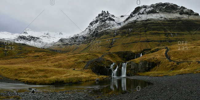 Kirkjufellsfoss waterfall, Iceland, Polar Regions