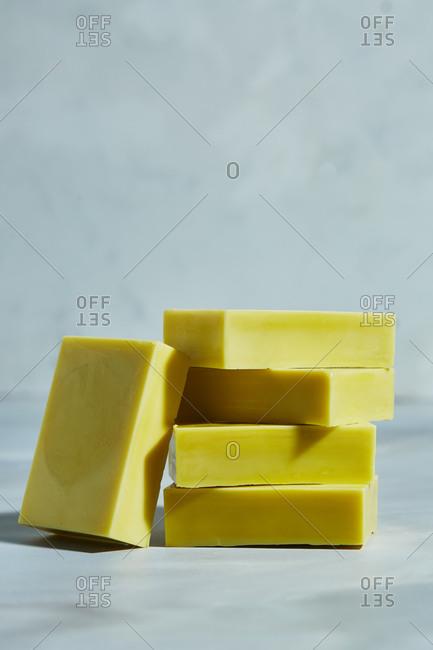 Homemade olive oil soap bars