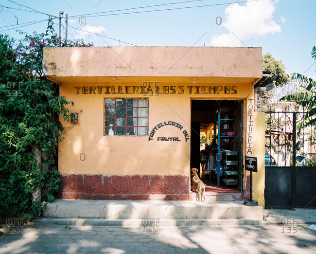 Guatemala - March 3, 2020: Grocery store exterior in Guatemala
