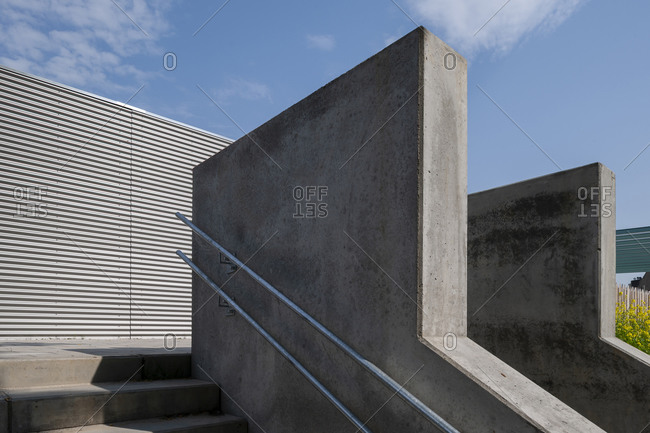 Concrete architectural detail of outdoor stairs