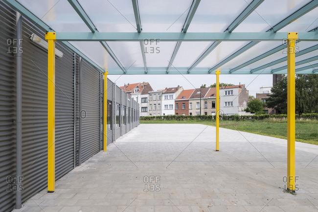 Modern school building exterior