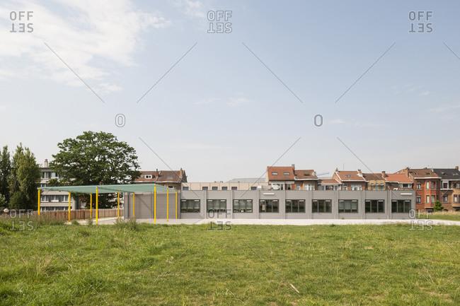 Modern container school building exterior