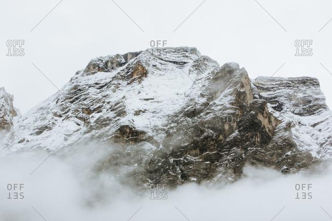 Misty Mountain In The Winter