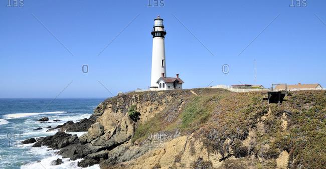 Views of the Pigeon Point Lighthouse near Santa Cruz, California