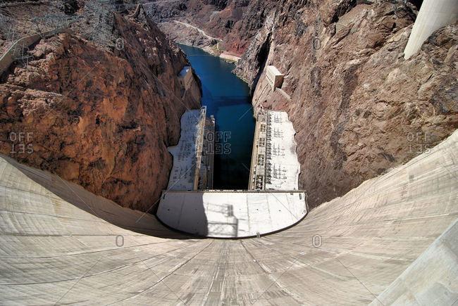 The Hoover Dam near Henderson, Nevada