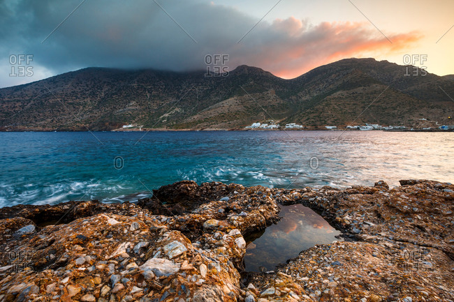 Seascape taken near Kamares village on Sifnos island.
