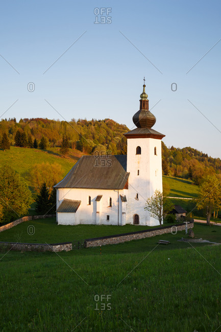 Geographical Center of Europe at St. John Baptist Church in Slovakia.