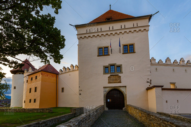 Main gate of the castle in the town of Kezmarok, Slovakia