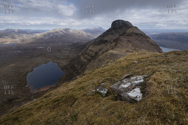 View from summit ridge of Quinag - Aoi Chuineag, Sutherland, Highland, Scotland
