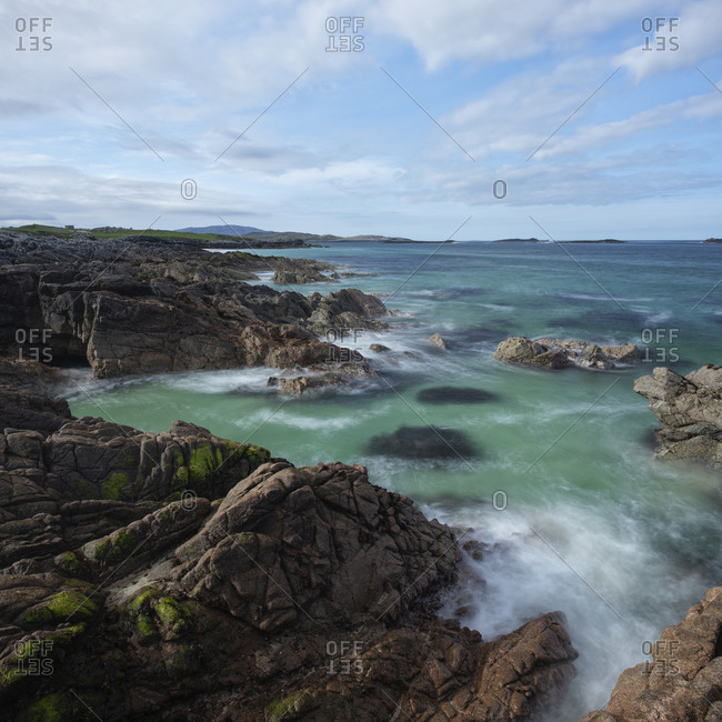 Coastal scenery at Breanais, Isle of Lewis, Outer Hebrides, Scotland