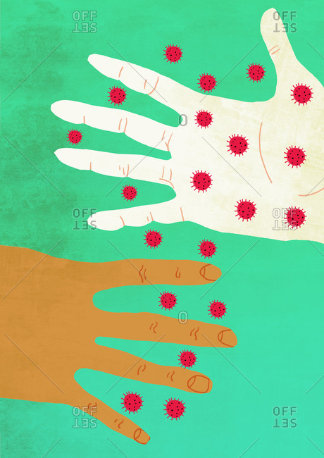 Infected hand spread deadly coronavirus