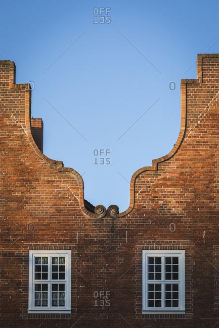 Germany- Potsdam- Dutch Quarter- Old brick buildings
