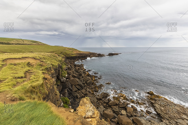 New Zealand- Oceania- South Island- Southland- Rocky coastline at Slope Point