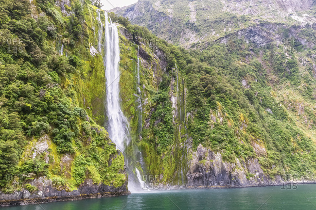 New Zealand- Oceania- South Island- Southland- Fiordland National Park- Milford Sound- Stirling Falls