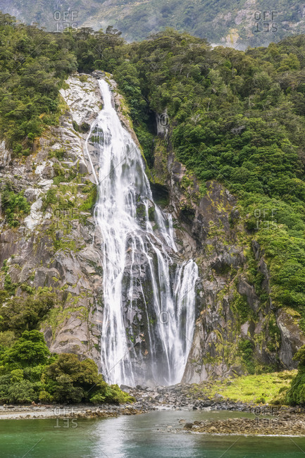 New Zealand- Oceania- South Island- Southland- Fiordland National Park- Milford Sound- Bowen Falls