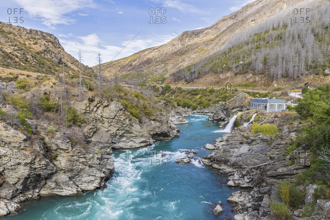 New Zealand- Oceania- Otago- Kawarau Gorge- Kawarau River- Roaring Meg Power Station
