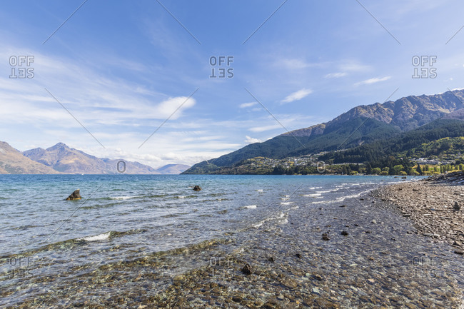 New Zealand- Oceania- South Island- Otago- Queenstown- Landscape with Lake Wakatipu and Cecil Peak