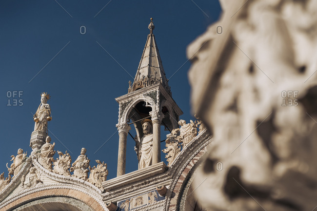 Italy- Venice- Low angle view of St. Marks cathedral