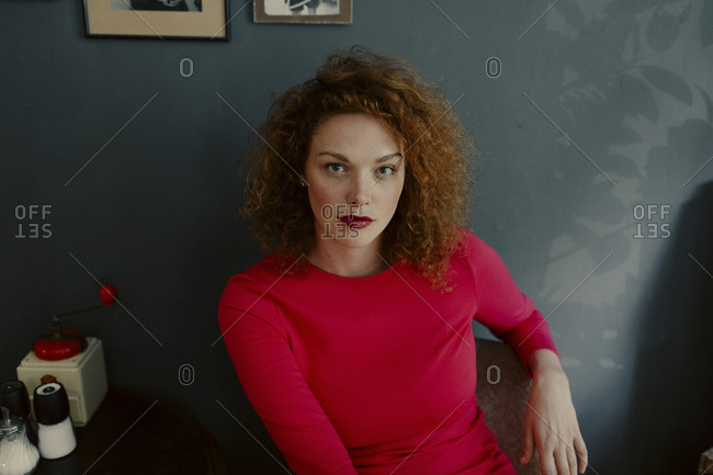 Portrait of red-haired woman