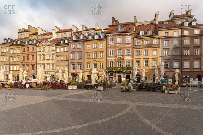 October 30, 2017: Old Town Market Square- Warsaw- Poland