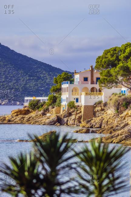 Spain- Mallorca- Sant Elm- remote house at coast