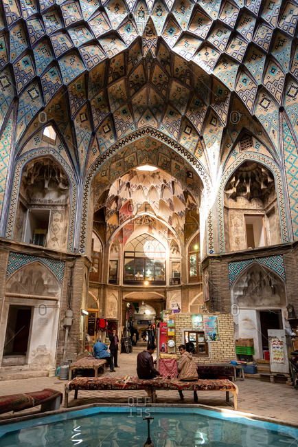 March 1, 2019: Domes of the historic Bazaar of Kashan. Kashan, Iran