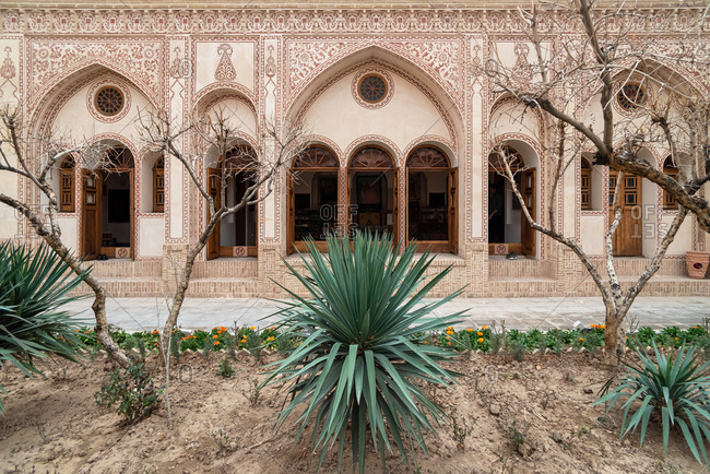 March 1, 2019: Iranian traditional historical house. Kashan, Iran