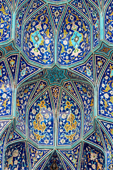 Iranian textured ceiling pattern
